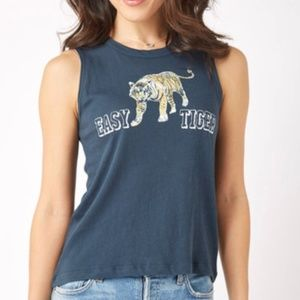 CHASER - Easy Tiger Graphic Muscle Tank Top Size M